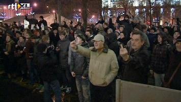 RTL Nieuws Opnieuw protesten tegen Poetin en Medvedev