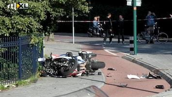 RTL Nieuws Autodief rijdt agenten van motor