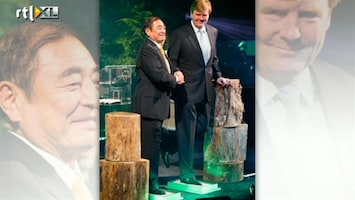 RTL Boulevard Prins Willem Alexander bij opening nieuwe FujiFilm-fabriek