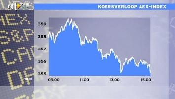 RTL Z Nieuws 15:00 AEX flink lager door onrust in Griekenland