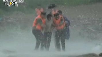 RTL Nieuws Oostkust China maakt zich op voor tyfoon
