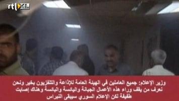 RTL Nieuws Eerste momenten na aanslag staattelevisie Syrië