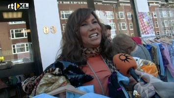 RTL Boulevard Patty Brad op vrijmarkt met Luv-kleding