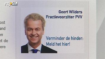 RTL Nieuws Geen afstand kabinet van PVV-meldpunt