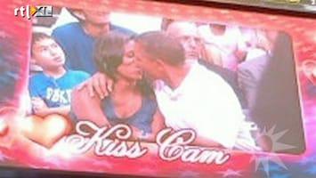 RTL Boulevard Obama's op Kiss Cam