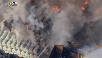 RTL Nieuws Grote brand in afvalverwerkingsbedrijf Londen