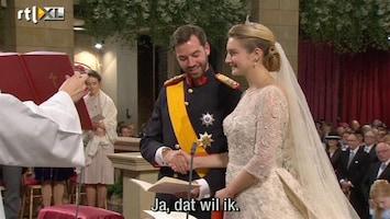 RTL Nieuws Sprookjeshuwelijk in Luxemburg