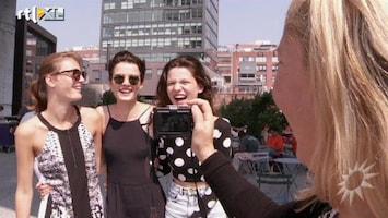 RTL Boulevard Modellen Laura, Liza en Anne in NY met Fiona