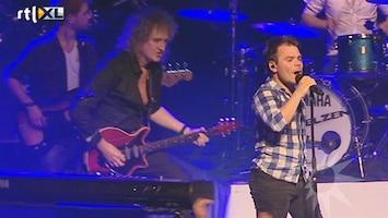 RTL Boulevard Roel van Velzen treedt op met Brian May