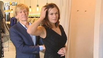 RTL Boulevard Actrice Liz Snoijink past nog één keer haar jurk
