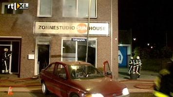 RTL Nieuws Auto ramt zonnestudio: brand en vier gewonden