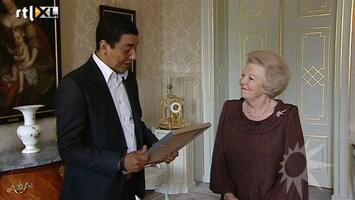 RTL Boulevard Jörgen Raymann bezoekt koningin