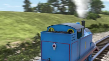 Thomas De Stoomlocomotief Rosie is rood