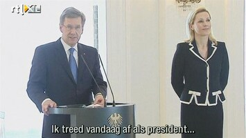 RTL Nieuws Duitse president Wulff is afgetreden