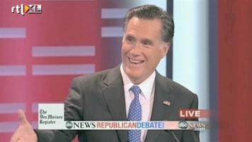 RTL Nieuws Grote druk op Romney bij eerste verkiezingsdebat