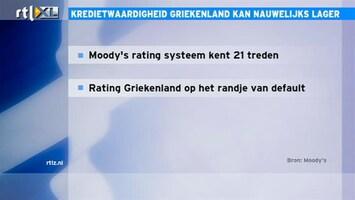 RTL Z Nieuws 10:00 Grieken kunnen bij bijna niemand meer terecht voor een lening