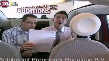 X Factor Fiat 500 Backseat Auditions: Martijn en Jon