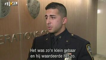 RTL Nieuws Politieman die zwerver schoenen gaf is held in Amerika