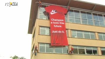 RTL Nieuws Greenpeace voert actie tegen Nike