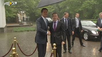RTL Nieuws Topontmoeting onder paraplu