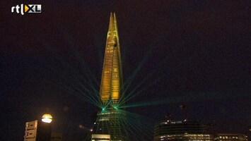 RTL Nieuws Hoogste gebouw Europa met lasershow geopend