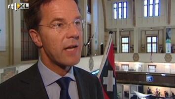 RTL Nieuws Premier Rutte bij beursgang Douwe Egberts