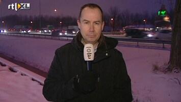 RTL Nieuws Sneeuwoverlast gaat hele dag duren