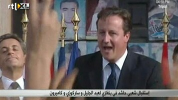 RTL Nieuws Sarko en Cameron als helden in Libië