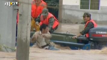 RTL Nieuws Chinezen op de vlucht voor het water
