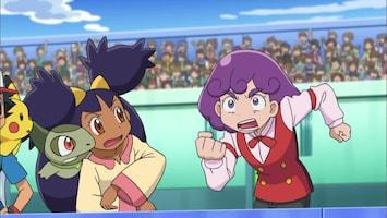 Pokémon Cilan tegen Trip, Ash tegen Georgia!