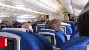 Vliegen door het vliegtuig