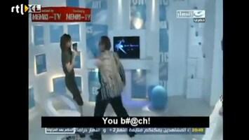 Editie NL Presentatrice knock-out geslagen live op tv