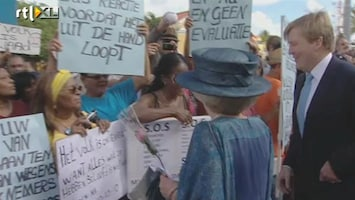 RTL Nieuws Demonstraties bezoek Beatrix Bonaire