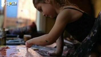 RTL Nieuws 5-jarig meisje is professioneel kunstenares