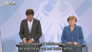 RTL Nieuws Rutte wenst Duits 'Mannschaft' succes