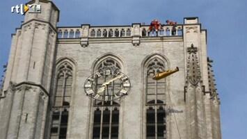 RTL Nieuws Bijzondere reddingsoperatie van kerktoren Brielle