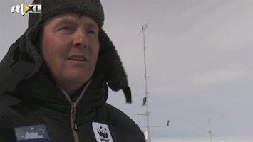 RTL Nieuws Prins kampeert bij smeltende poolkap