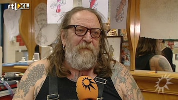 RTL Boulevard Valentijnsactie: Tattoo van Henk Schiffmacher