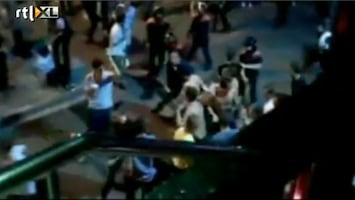 RTL Nieuws Massale vechtpartij in Lloret de Mar