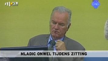 RTL Nieuws Mladic onwel tijdens zitting