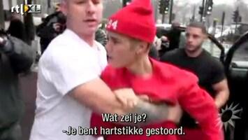 RTL Boulevard Val en uitbarsting Justin Bieber