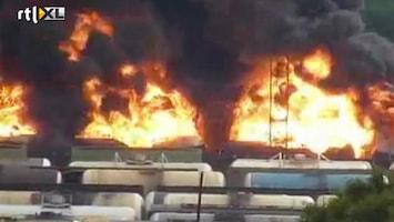 RTL Nieuws 60 ton benzine in brand