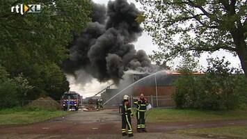RTL Nieuws Brand in loods Venray