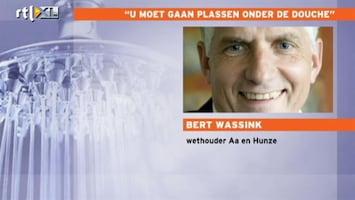 Editie NL Wethouder: U moet gaan plassen onder de douche