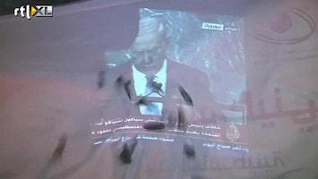 RTL Nieuws Netanyahu bekogeld met schoenen