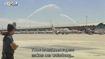 RTL Nieuws Waterbogen voor Spaanse voetballers