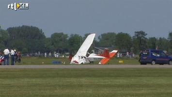 RTL Nieuws Gewonde na crash met reclamevliegtuig