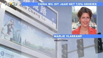 RTL Nieuws China wil dit jaar met 7,5 procent groeien