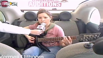 X Factor Fiat 500 Backseat Auditions: Gabriela