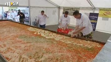 RTL Nieuws Wereldrecord: lasagne van 5 ton